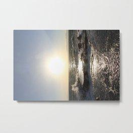 The Tide Comes in on Enoshima Island Metal Print