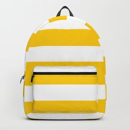 USC Gold - solid color - white stripes pattern Backpack