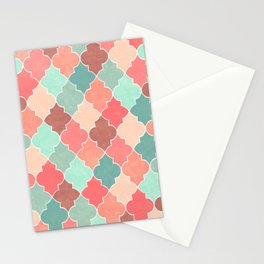 Morocco Coral Mint Stationery Cards