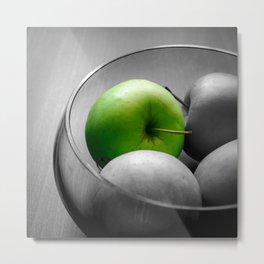 Green Apple Metal Print