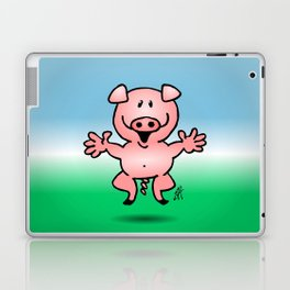 Cheerful little pig Laptop & iPad Skin