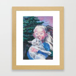 Albino cat Framed Art Print