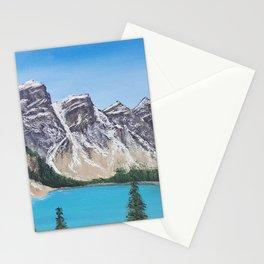 Lake Moraine, Banff Acrylic Painting Stationery Cards