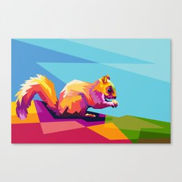 Squirrel Colorfull Canvas Print