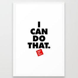 BEST SPORT TSHIRT EVER. Framed Art Print