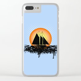 Grunge sailing Clear iPhone Case