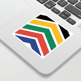 Chevron South Africa Flag Colors Sticker