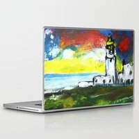 lighthouse Laptop & iPad Skins featuring lighthouse by Nastya Bo