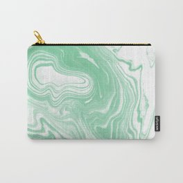 Shinzi - spilled ink japanese marble paper ocean watercolor swirl marbling marbled pattern Carry-All Pouch