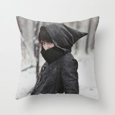She was an assassin Throw Pillow