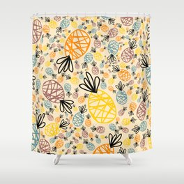 A Pineapple Summer Shower Curtain