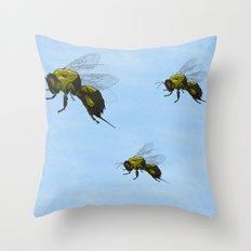 Flight of the Bumblebees Throw Pillow