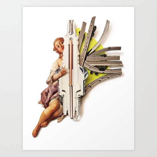 Sparklette   Collage Art Print