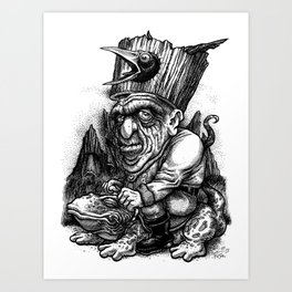 Caw Gawk! Art Print