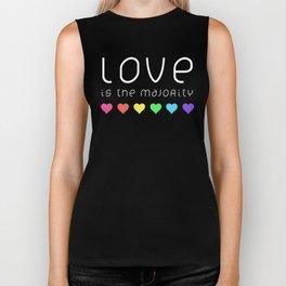Love Is The Majority (Color) Biker Tank