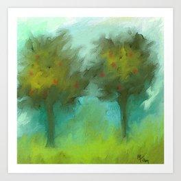 Two Apple Trees Art Print