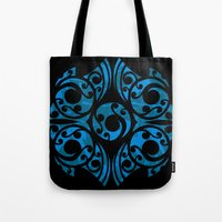 maori Tote Bags featuring Blue Maori Style by Lonica Photography & Poly Designs