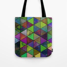 Textured Triangulation - Abstract, geometric triangles Tote Bag