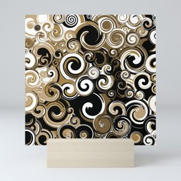 Coffee Swirls Mini Art Print
