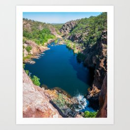 Panoramic view from above at Edith Falls, Australia. Art Print
