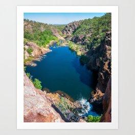 Panoramic view from above at Edith Falls, Australia. Art Print