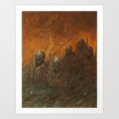 Men at War Art Print
