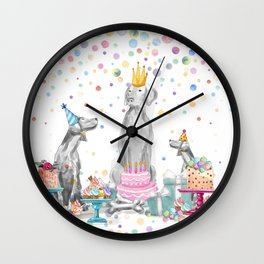 PARTY WEIMS Wall Clock