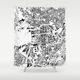 Berlin buildings map Shower Curtain