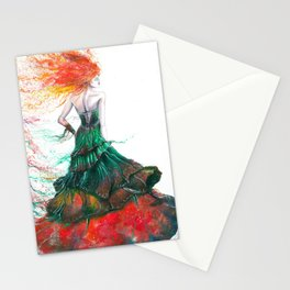 Lady Fire  Stationery Cards