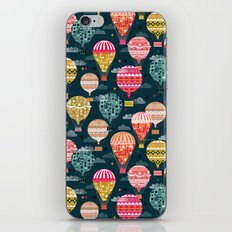 Hot Air Balloons - Retro, Vintage-inspired Print and Pattern by Andrea Lauren iPhone & iPod Skin
