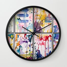 Kinetic Stains Wall Clock