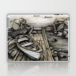 Old Boat on the Dock Laptop & iPad Skin