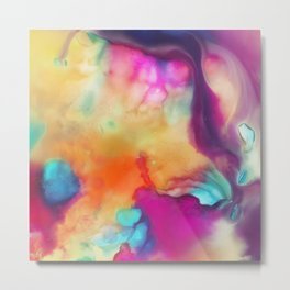 Spirit watercolor abstraction painting Metal Print