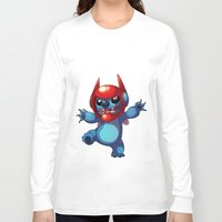 stitch Long Sleeve T-shirts featuring Stitch by WTFmoments