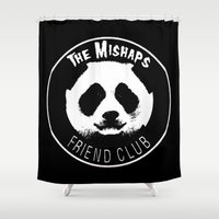 misfits Shower Curtains featuring Mishaps Friend Club by IRIS Photo & Design