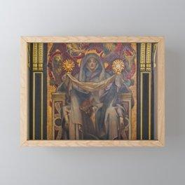 Classical Masterpiece Church Mural by John Singer Sargent Framed Mini Art Print