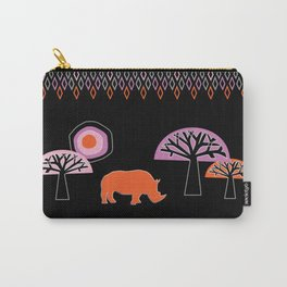 African Rhino - by Kara Peters Carry-All Pouch