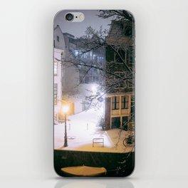 AMSTERDAM / Winter Night iPhone Skin