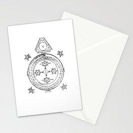 The Solomonic Magic Circle Black White Stationery Cards