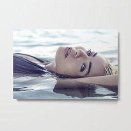 Beautiful Woman in the Water Metal Print