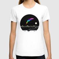 swimming T-shirts featuring Night Swimming by Octavia Soldani