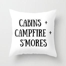 Cabins Campfire Smores Throw Pillow
