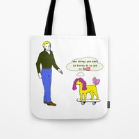 youtube Tote Bags featuring Doghouse ' Youtube ' by peanut