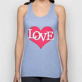 Pink Heart Filled with Love Unisex Tank Top