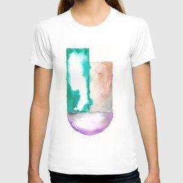 180914 Minimalist Geometric Watercolor 7 T-shirt