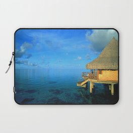 Over-the-Water Island Bungalow Laptop Sleeve