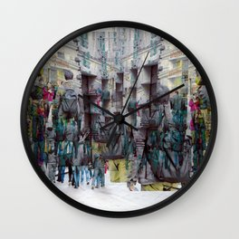 immersed within memories and hindsight wisdom lock Wall Clock