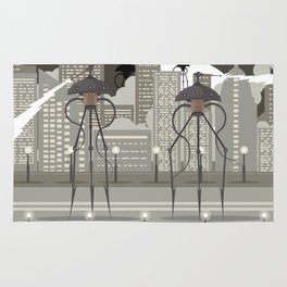 science fiction alien giant tripod Rug