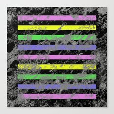 Linear Breakthrough - Abstract, geometric, textured artwork Canvas Print
