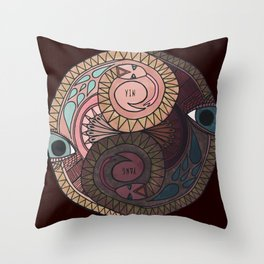 YIN YANG SNAKES Throw Pillow
